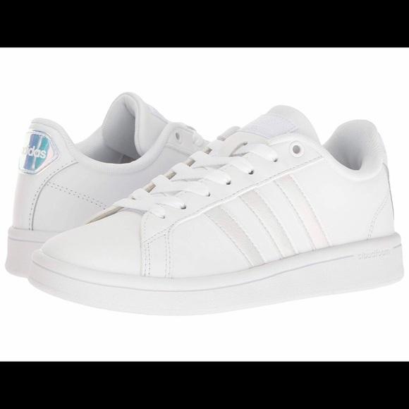 timeless design 7fb39 7df30 adidas Shoes - Adidas Neo Cloudfoam White Stripe Sneakers Shoe 10